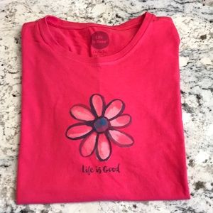 Women's Life's Good Crusher SS Tee Size XL EUC